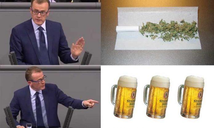 Montage: Alexander Krauß, Marihuana, Bier