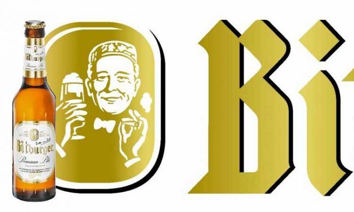 Bitburger-Logo mit reinmontiertem Joint