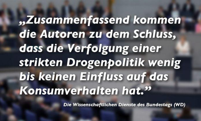 Zitat der Wissenschaftlichen Dienste des Bundestags