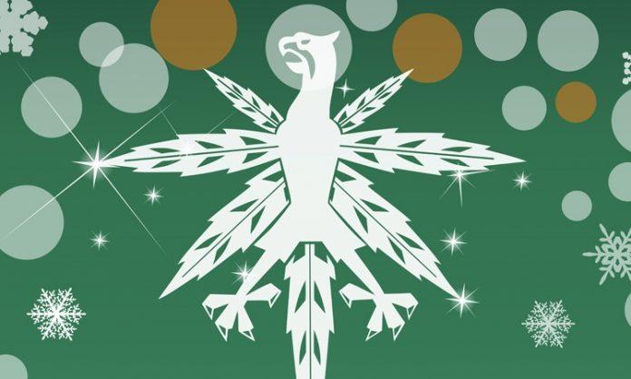 Das Logo des DHV in der Weihnachts-Verion