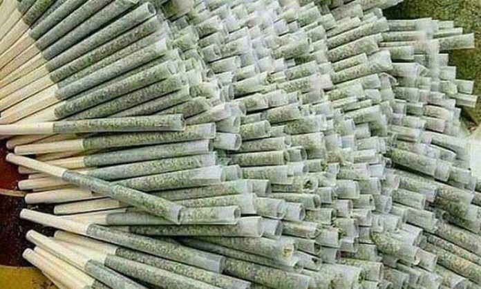 Zahlreiche Joints