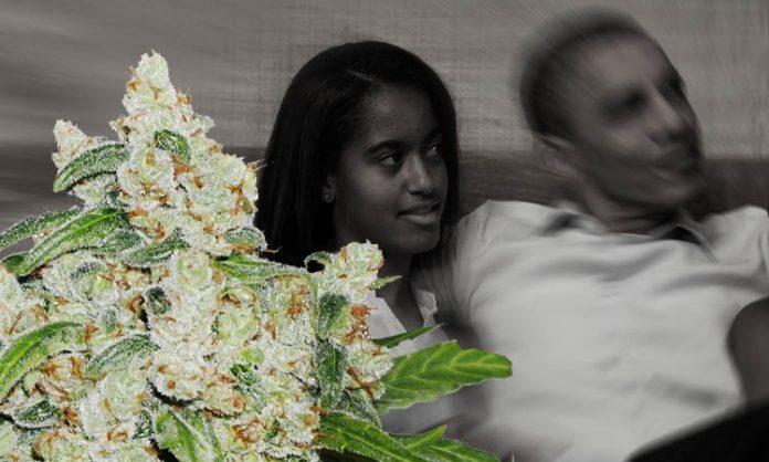 Barack Obama mit seiner Tochter Malia