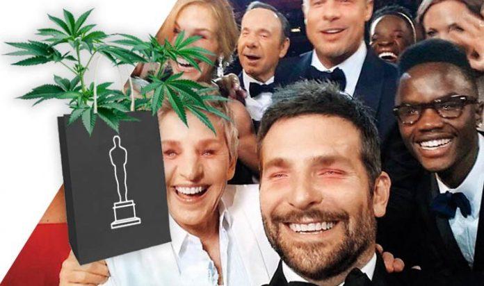Fotomontage: Stars bei der Oscarverleihung mit geröteten Augen