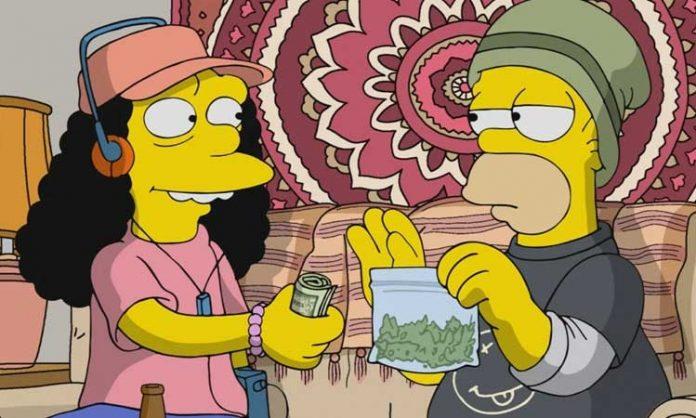 Simpsons-Szene: Homer verkauft Otto einen Beutel Marihuana