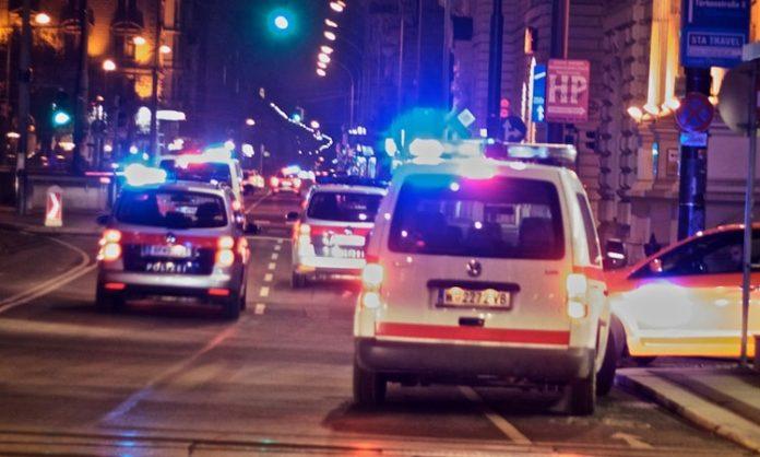 Polzeiaufkommen in der Wiener Innnenstadt