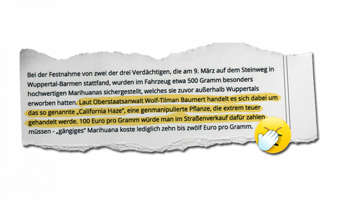 Textausschnitt aus der Westdeutschen Zeitung