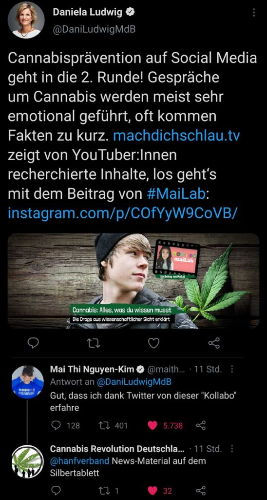Original-Tweet von Daniela Ludwig